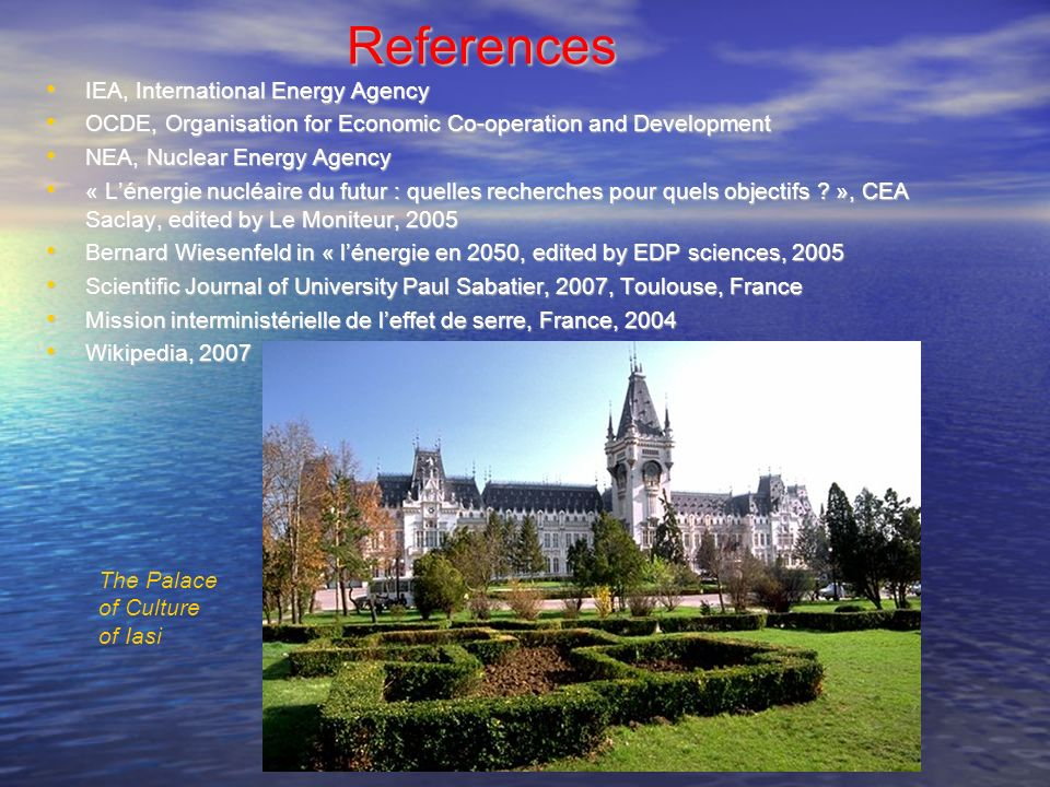 References IEA, International Energy Agency