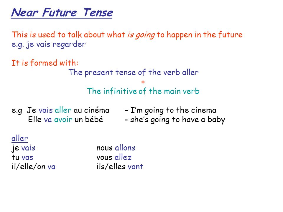 The infinitive of the main verb