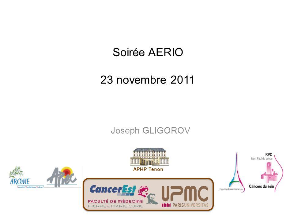 Soirée AERIO 23 novembre 2011 Joseph GLIGOROV APHP Tenon