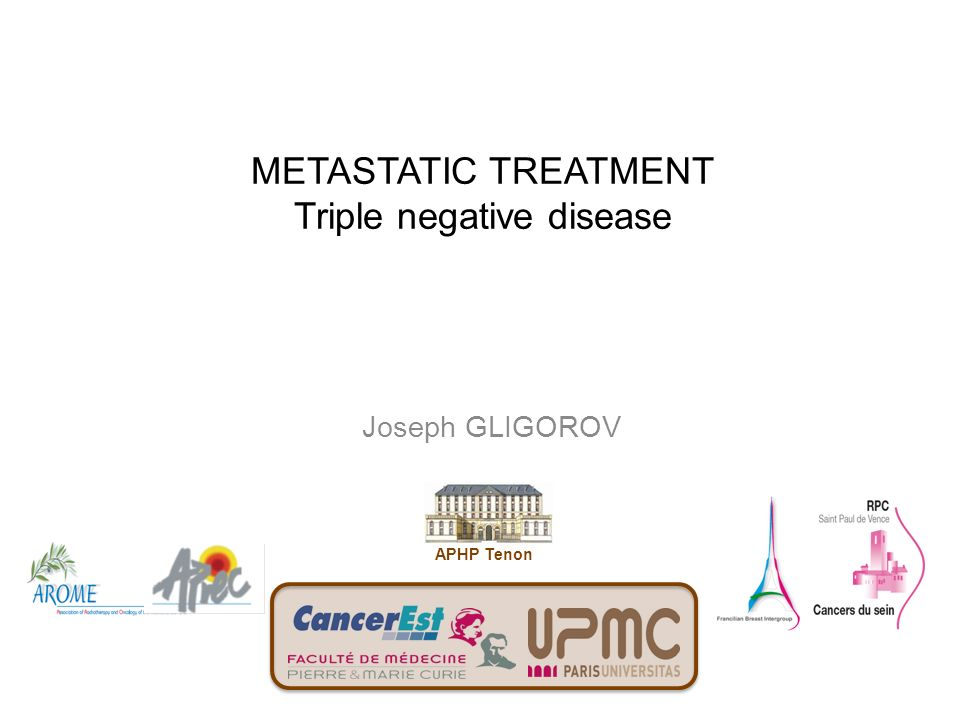 METASTATIC TREATMENT Triple negative disease