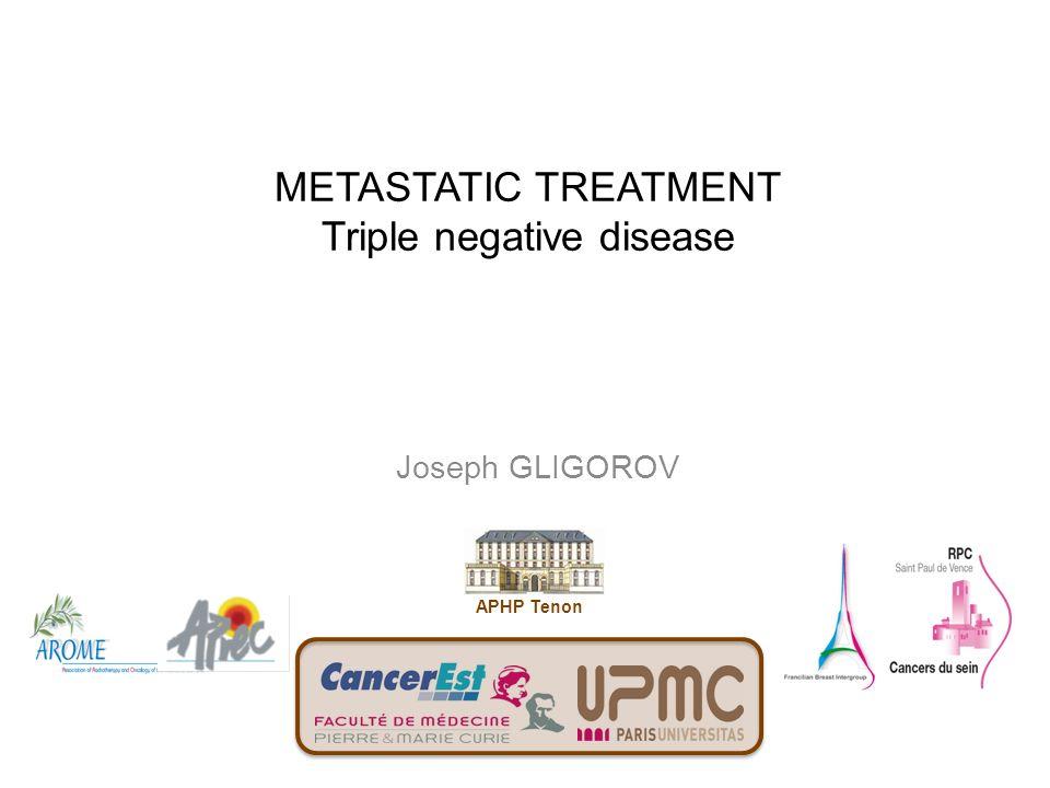 METASTATIC TREATMENT Triple negative disease