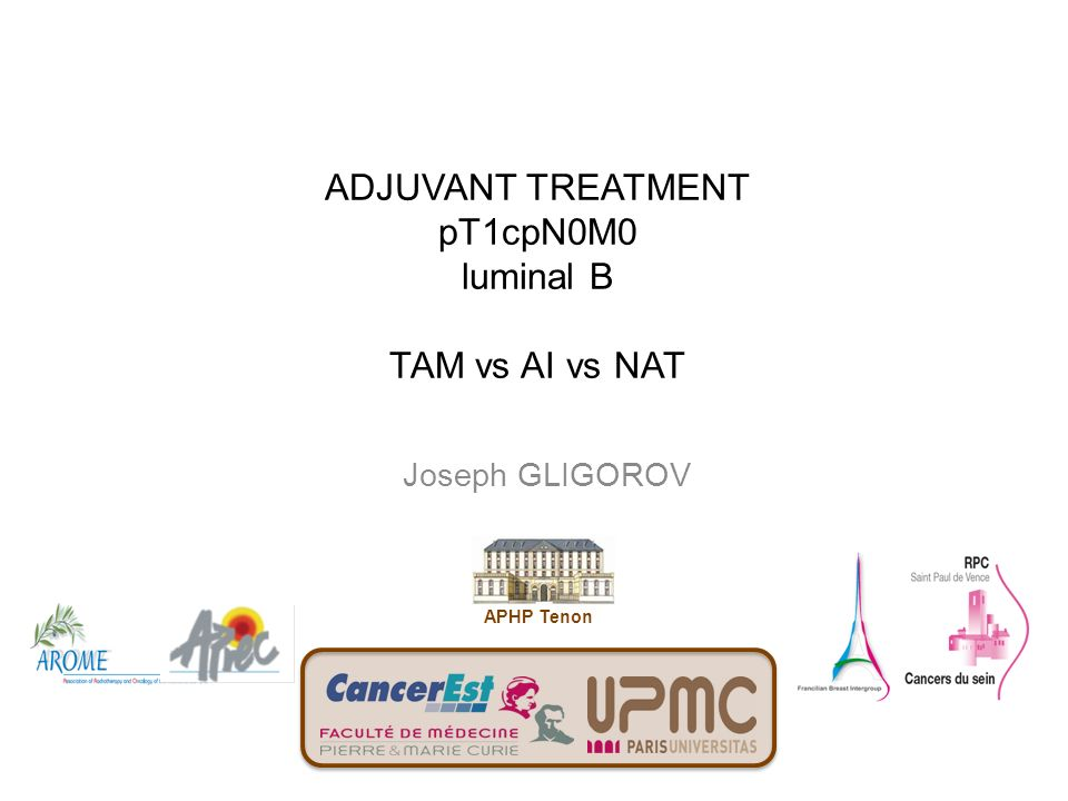 ADJUVANT TREATMENT pT1cpN0M0 luminal B TAM vs AI vs NAT