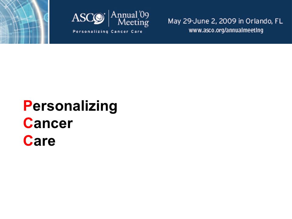 Personalizing Cancer Care
