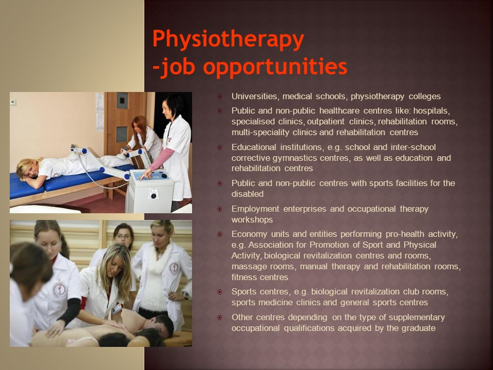 Physiotherapy -job opportunities