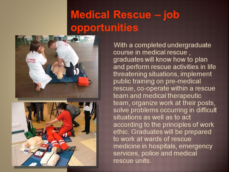 Medical Rescue – job opportunities