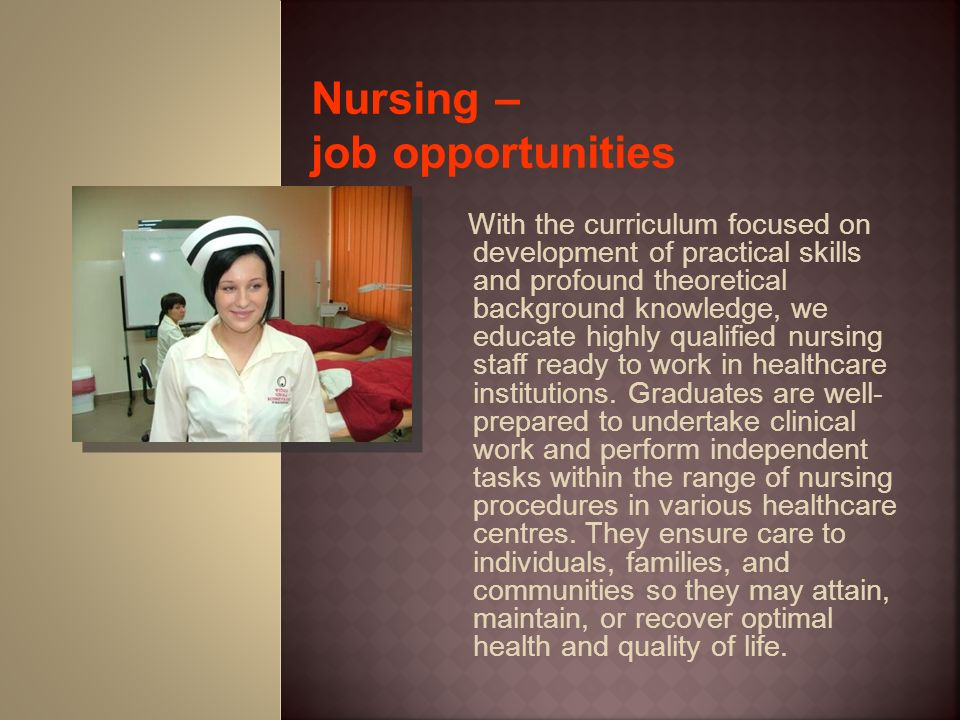 Nursing – job opportunities