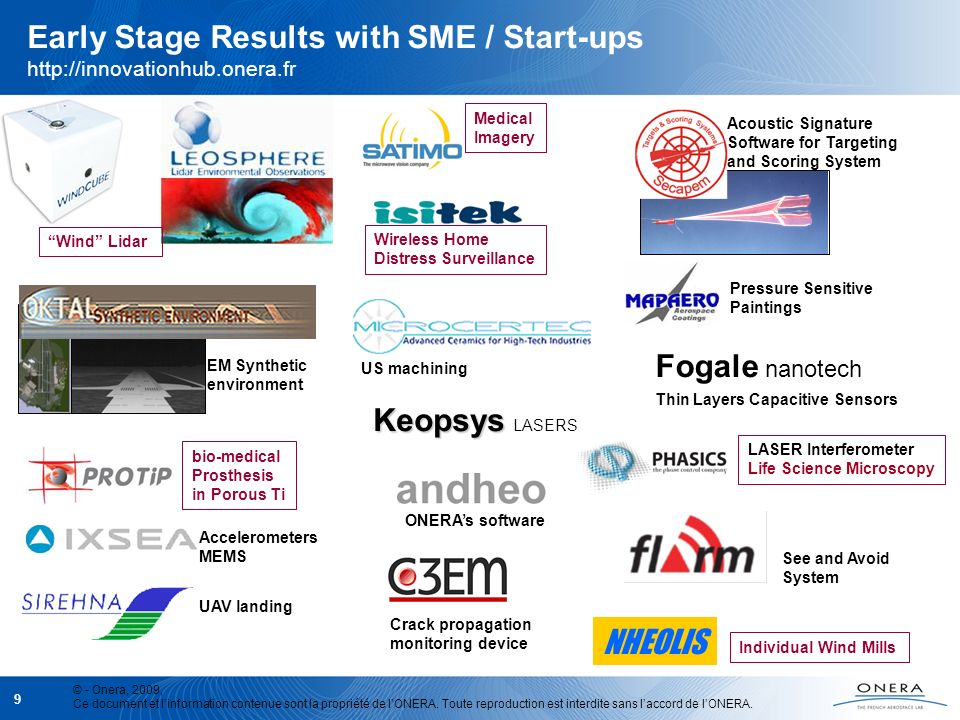 Early Stage Results with SME / Start-ups