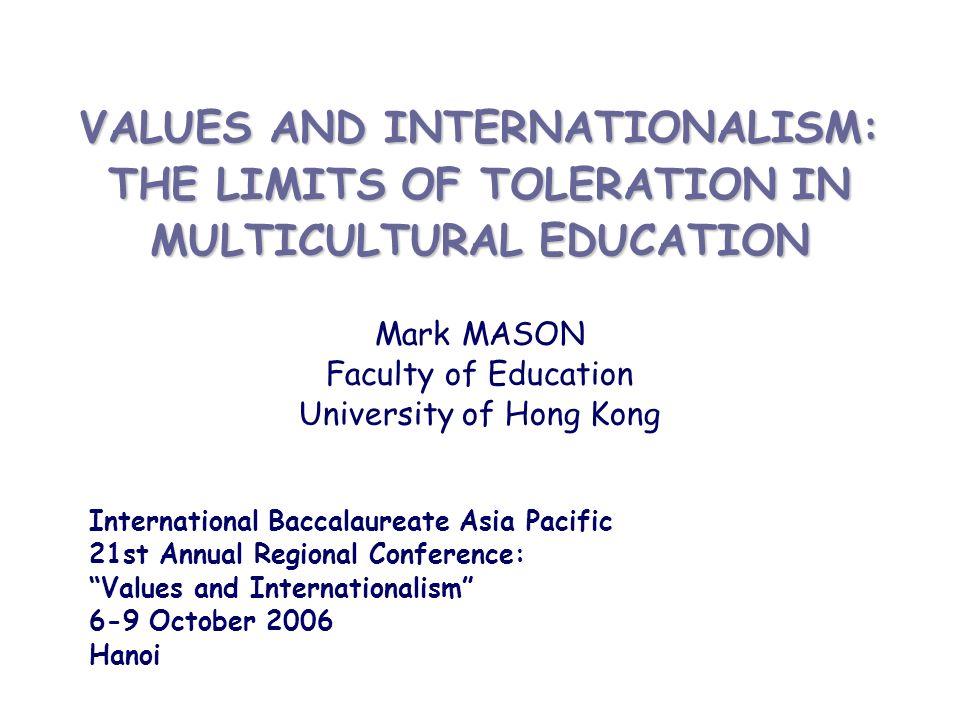 Mark MASON Faculty of Education University of Hong Kong