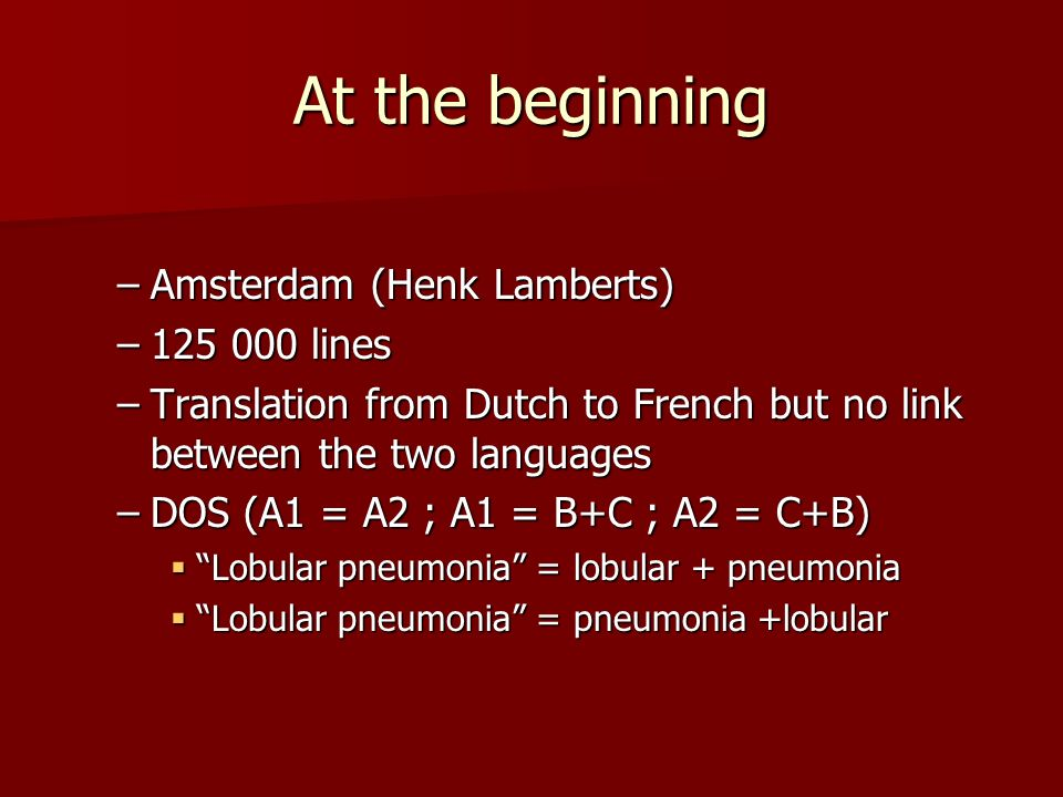 At the beginning Amsterdam (Henk Lamberts) 125 000 lines