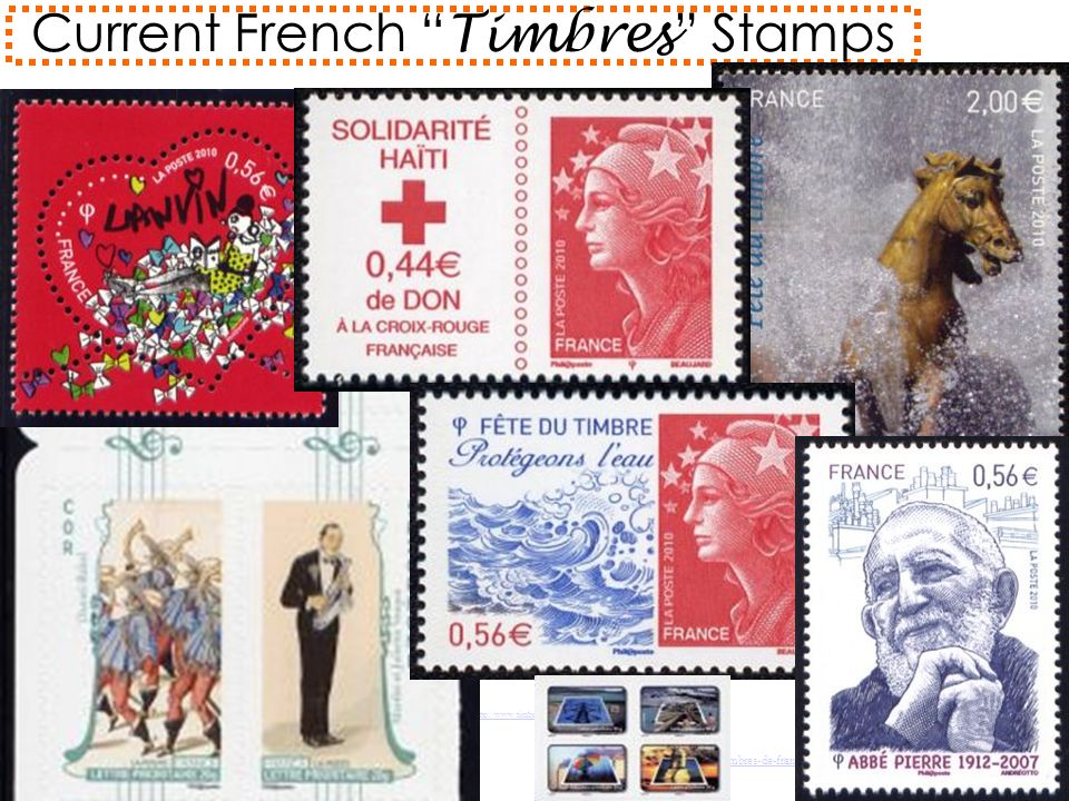 Current French Timbres Stamps