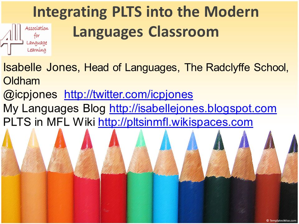 Integrating PLTS into the Modern Languages Classroom