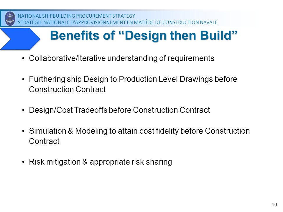 Benefits of Design then Build