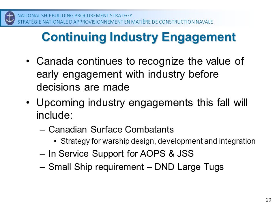 Continuing Industry Engagement