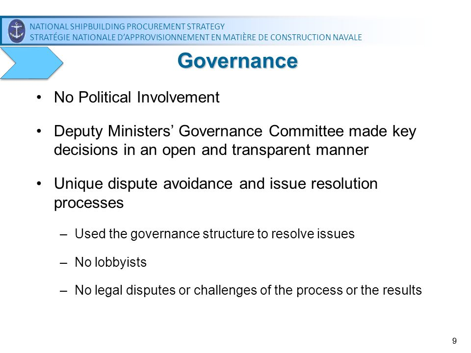 Governance No Political Involvement