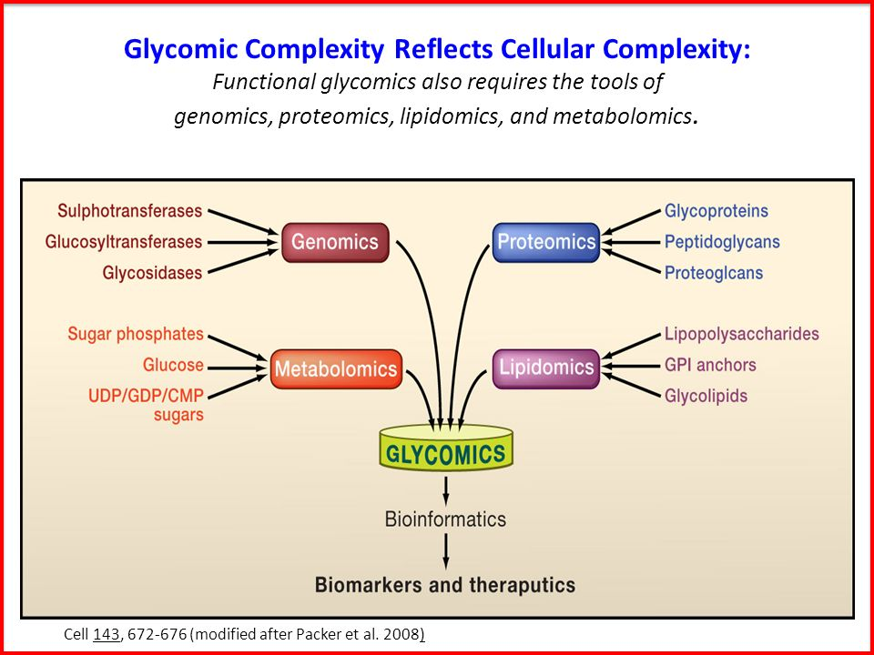 Glycomic Complexity Reflects Cellular Complexity: Functional glycomics also requires the tools of genomics, proteomics, lipidomics, and metabolomics.