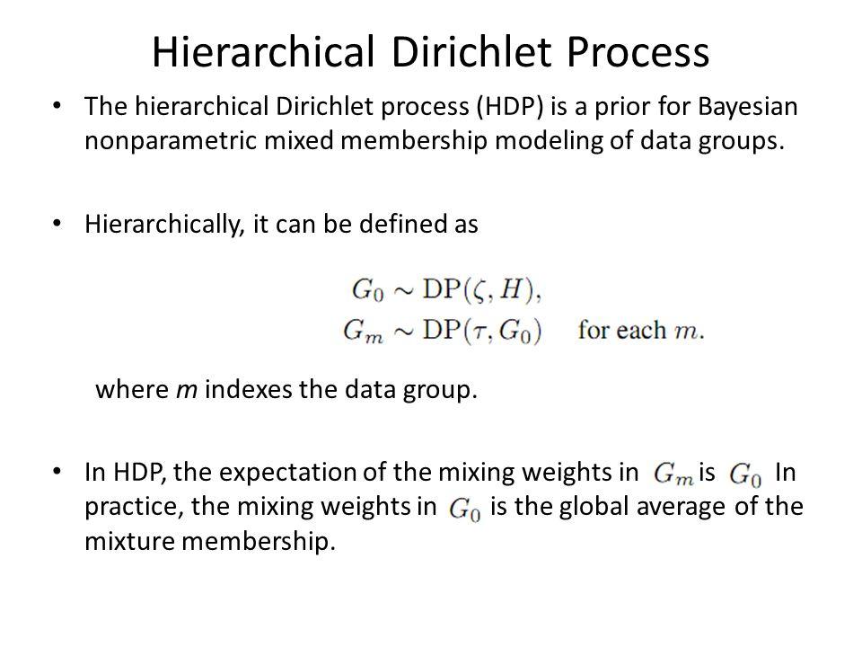 Hierarchical Dirichlet Process