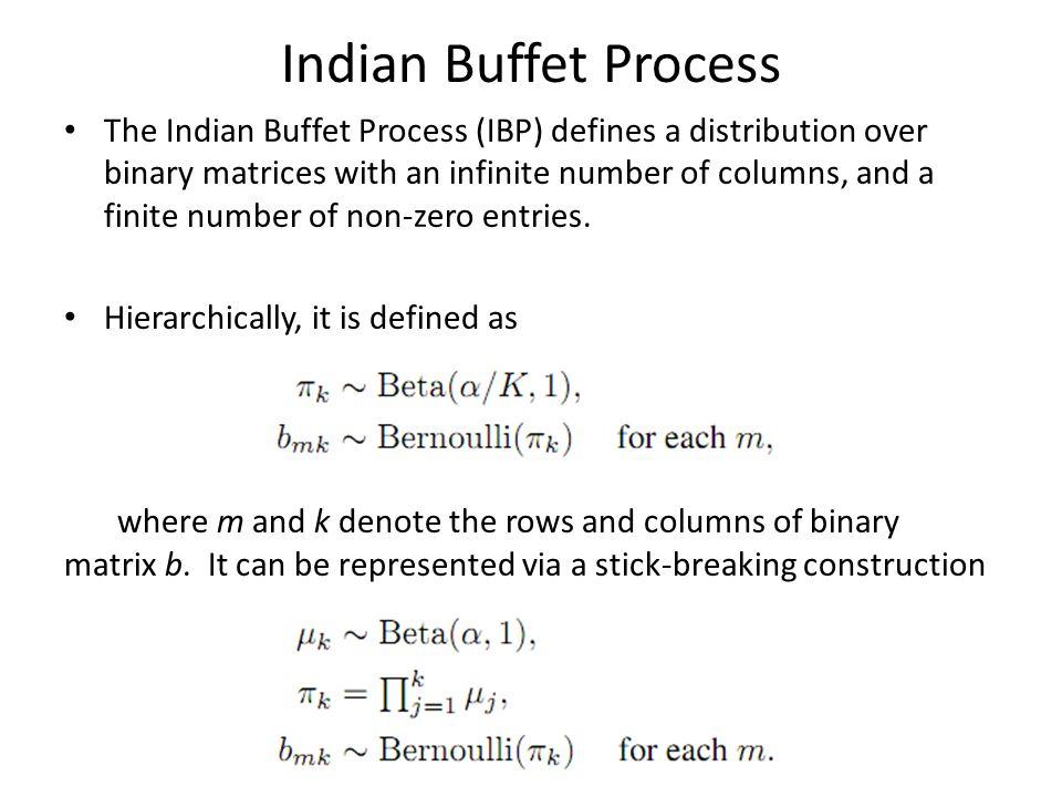 Indian Buffet Process