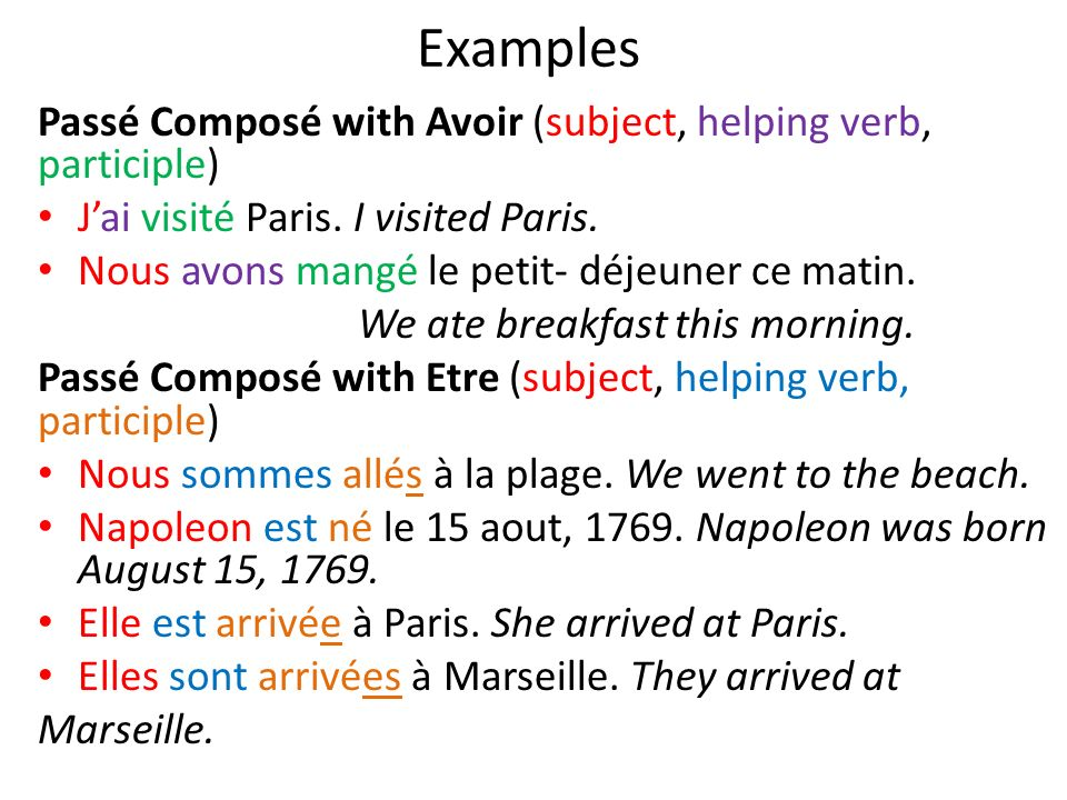 how to write subject in french