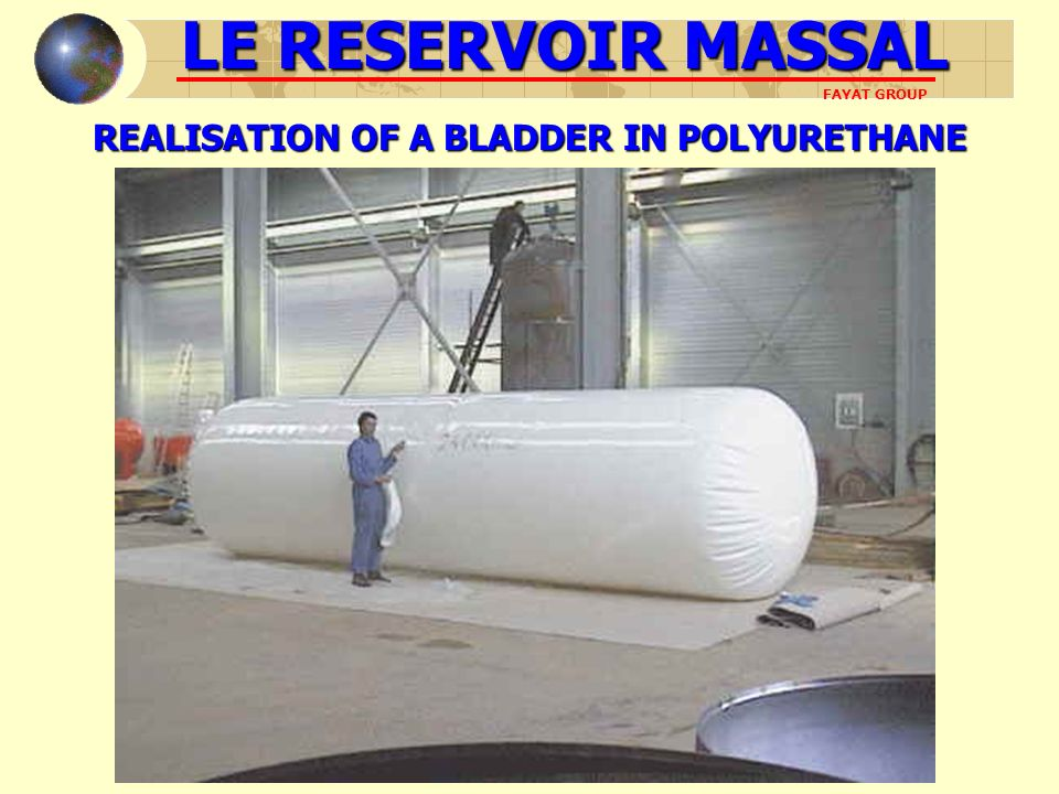 REALISATION OF A BLADDER IN POLYURETHANE