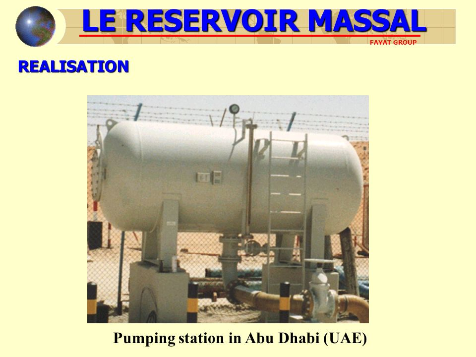 Pumping station in Abu Dhabi (UAE)