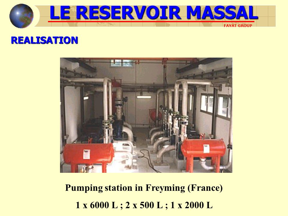 Pumping station in Freyming (France)