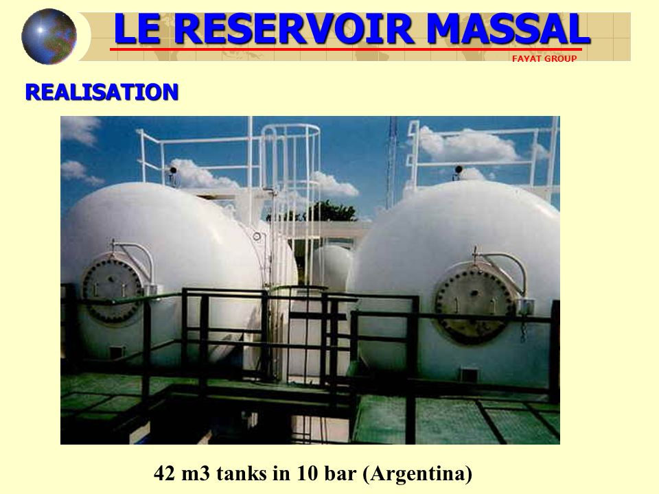 42 m3 tanks in 10 bar (Argentina)