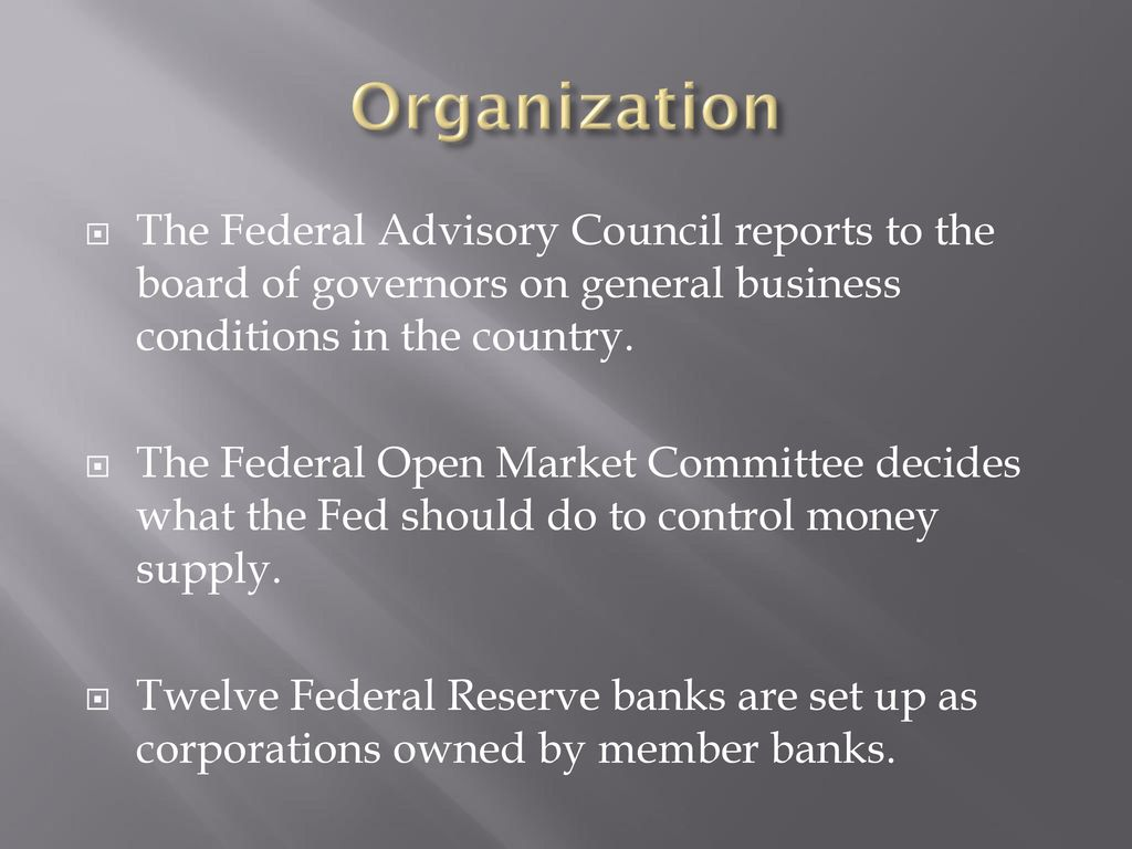 The Federal Reserve System and Monetary Policy - ppt download