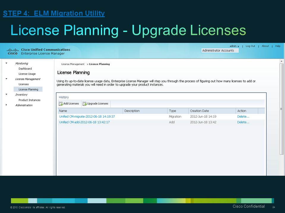 License Planning - Upgrade Licenses