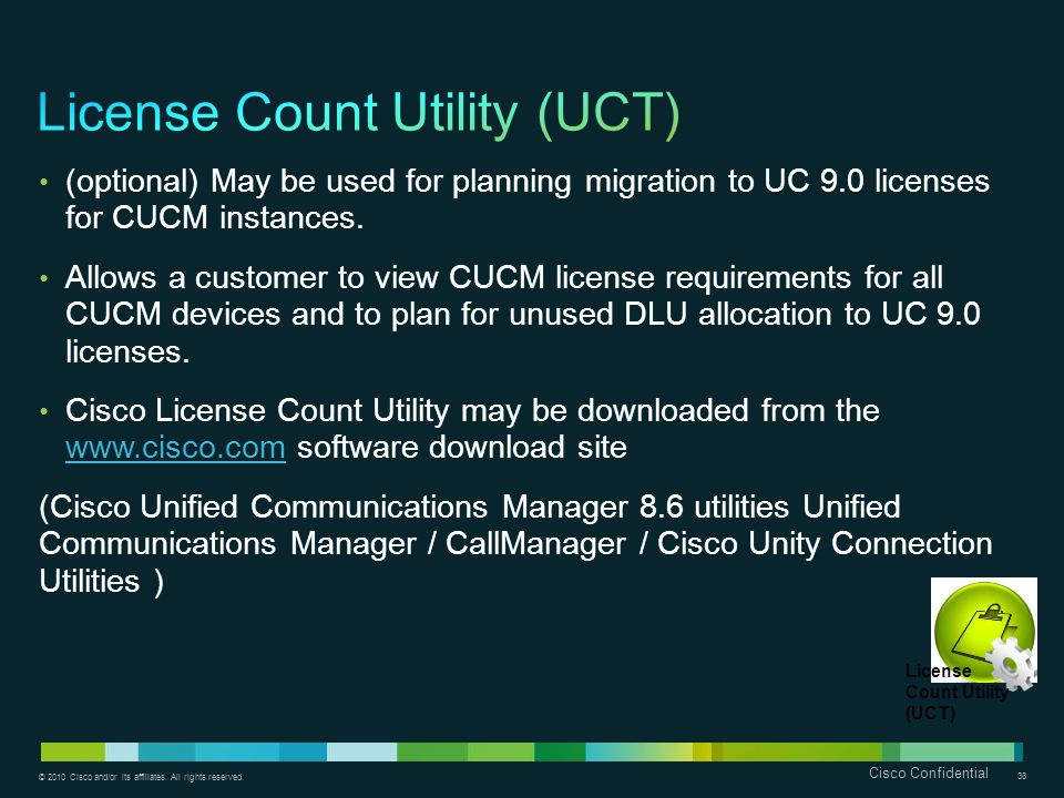 License Count Utility (UCT)