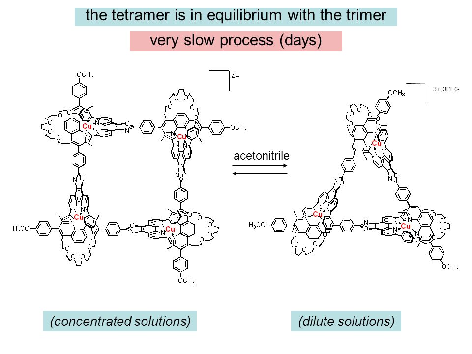 the tetramer is in equilibrium with the trimer