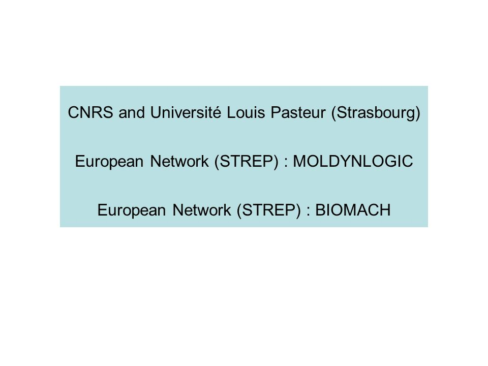 CNRS and Université Louis Pasteur (Strasbourg)