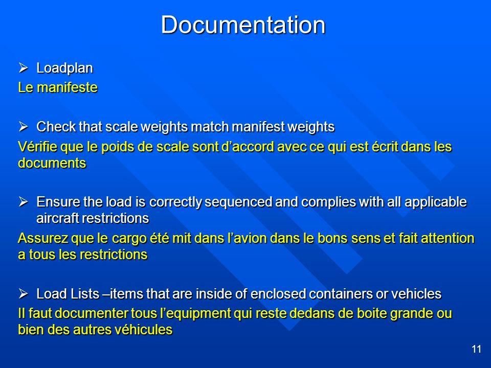 Documentation Loadplan Le manifeste