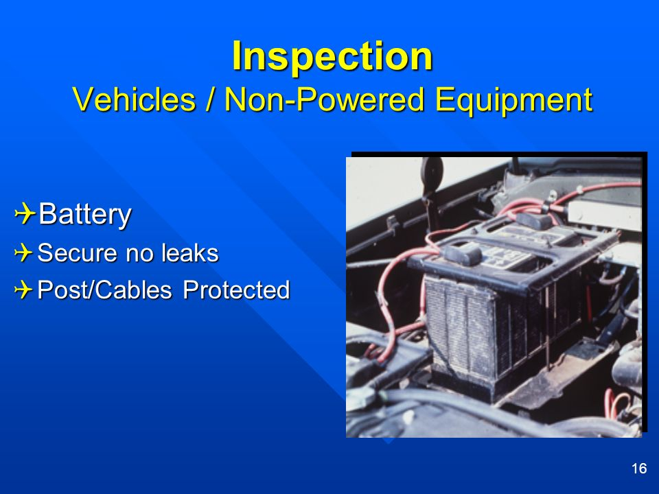Inspection Vehicles / Non-Powered Equipment