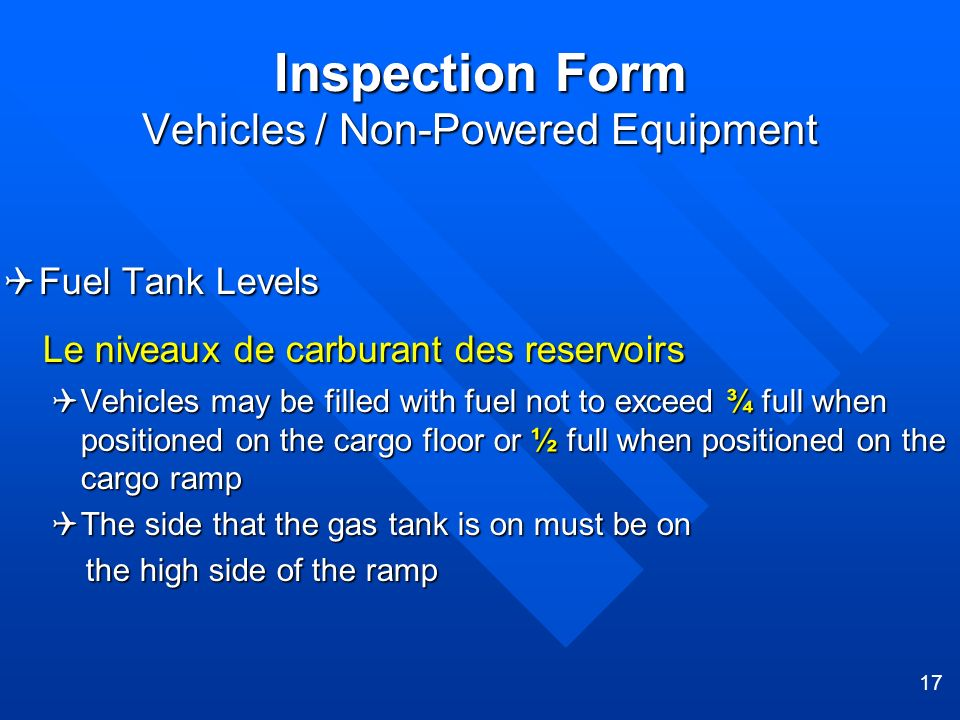 Inspection Form Vehicles / Non-Powered Equipment