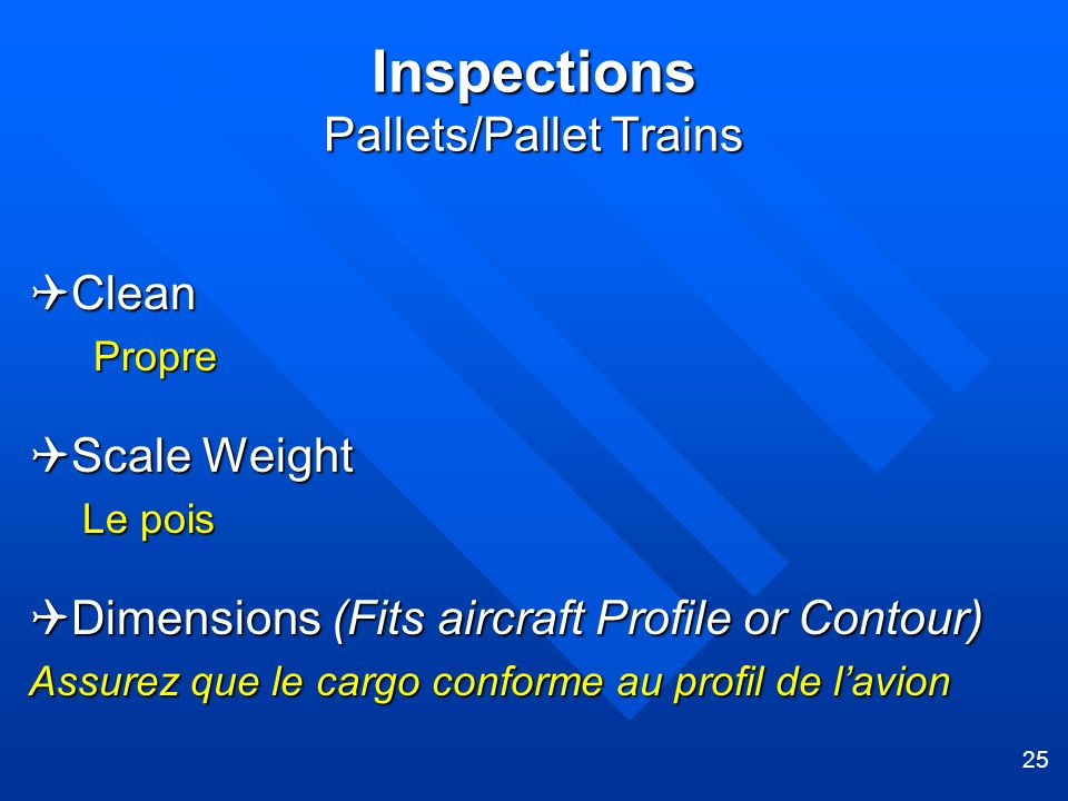 Inspections Pallets/Pallet Trains