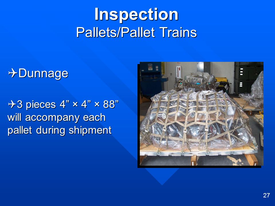 Inspection Pallets/Pallet Trains