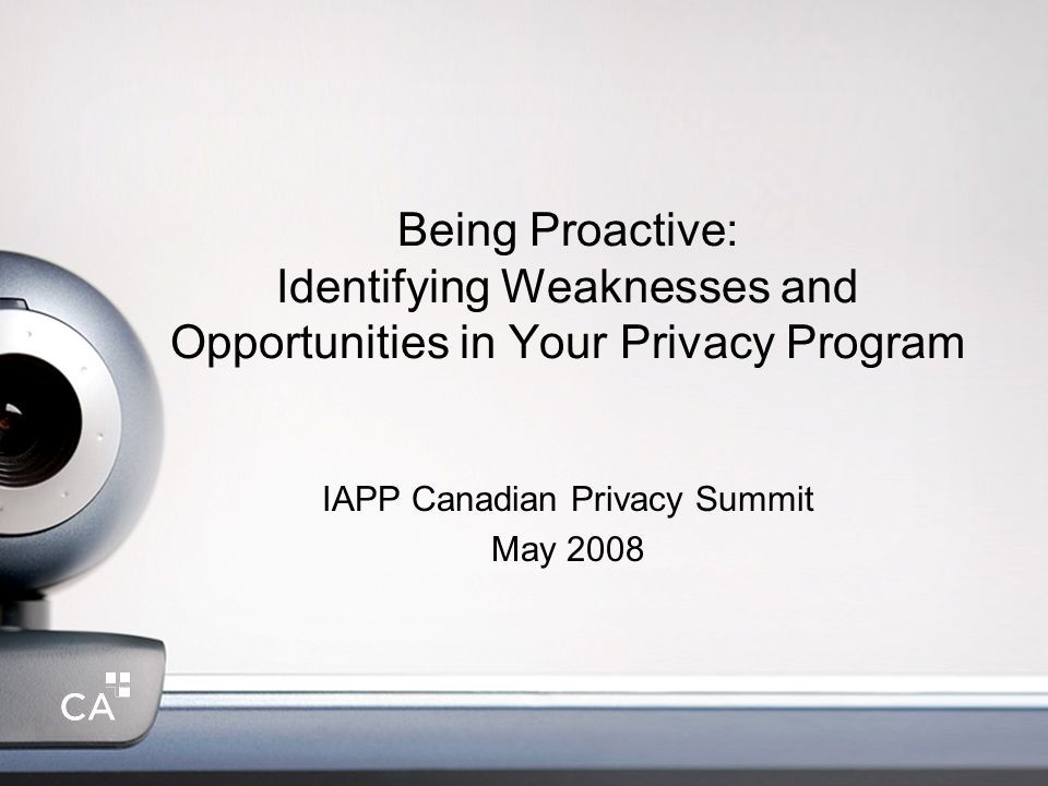IAPP Canadian Privacy Summit May 2008