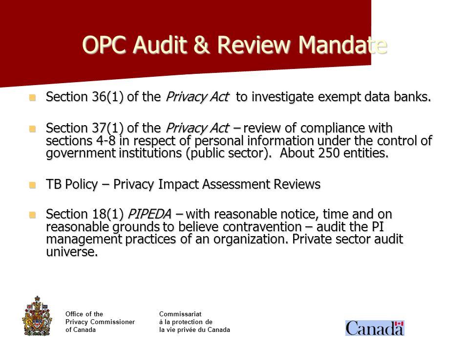 OPC Audit & Review Mandate