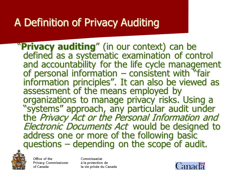 A Definition of Privacy Auditing