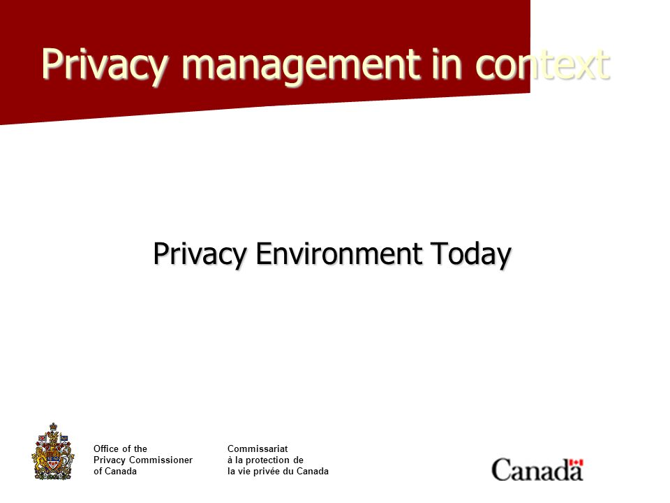 Privacy management in context