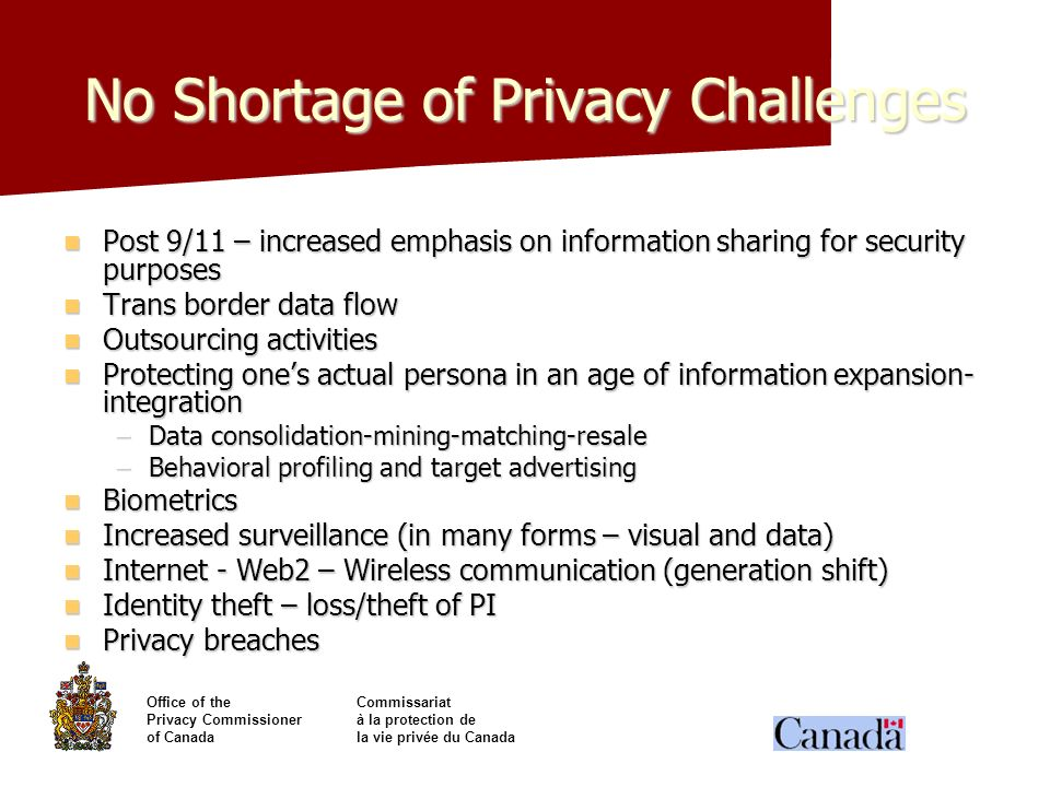No Shortage of Privacy Challenges