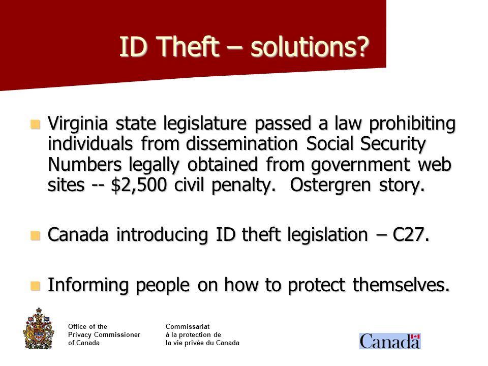 ID Theft – solutions