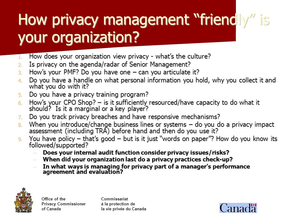 How privacy management friendly is your organization