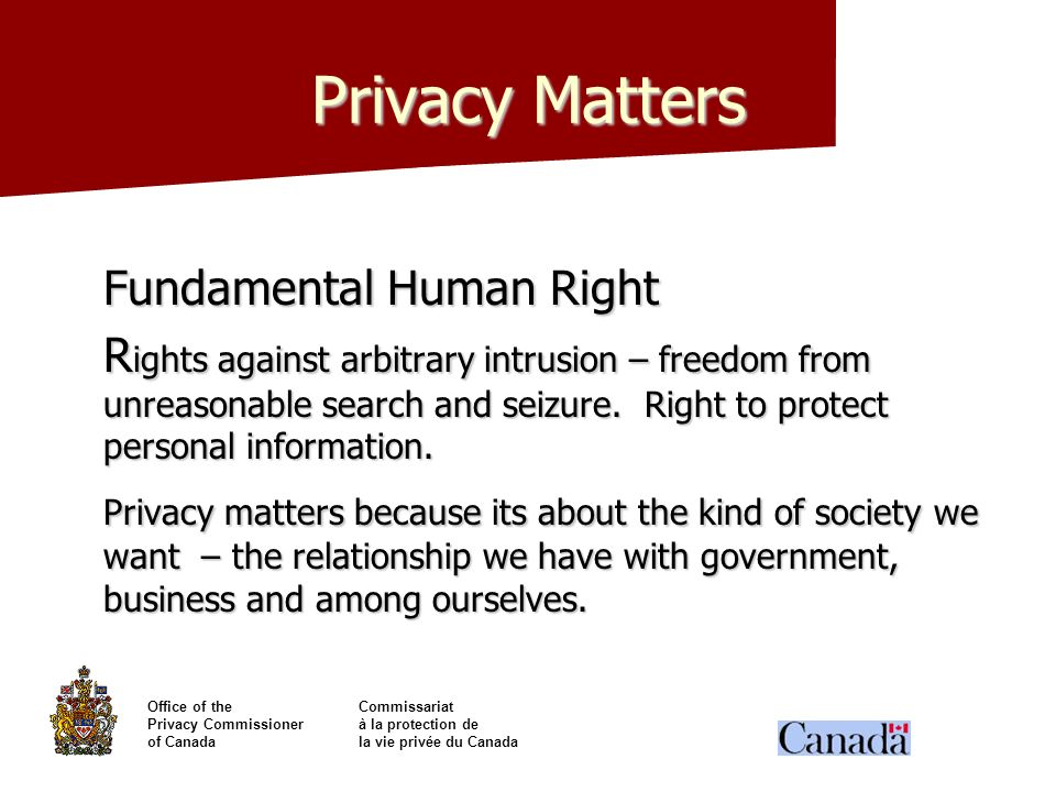 Privacy Matters Fundamental Human Right