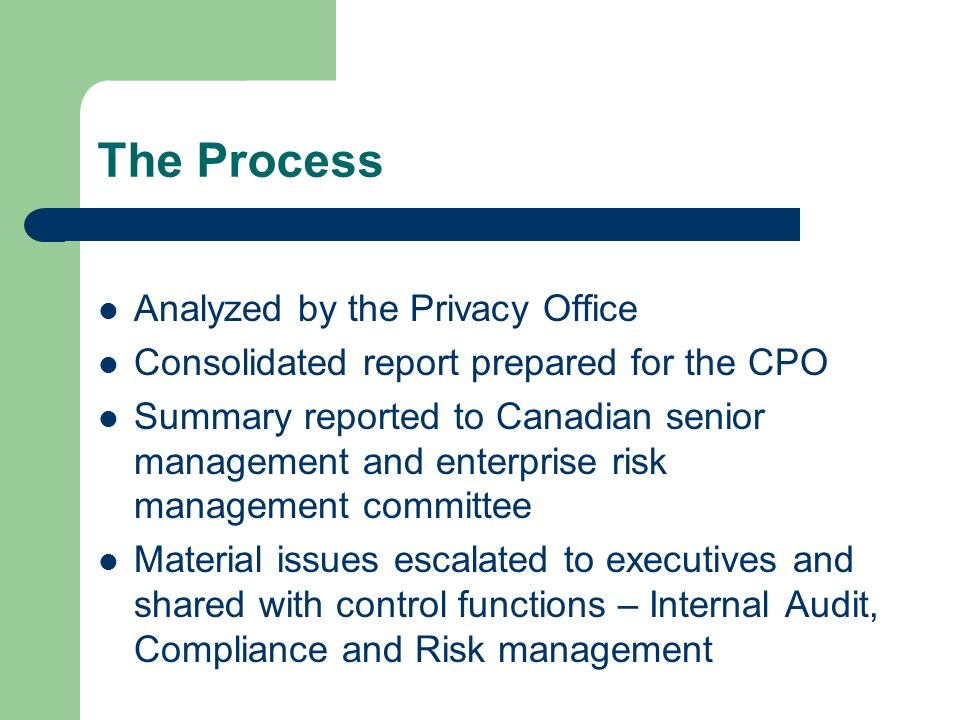 The Process Analyzed by the Privacy Office