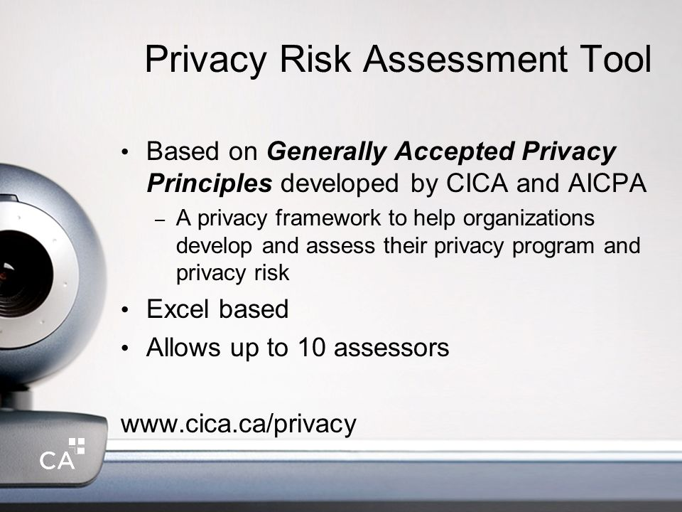 Privacy Risk Assessment Tool