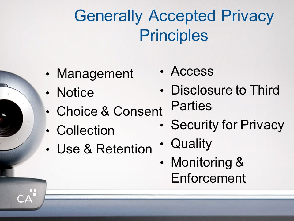 Generally Accepted Privacy Principles