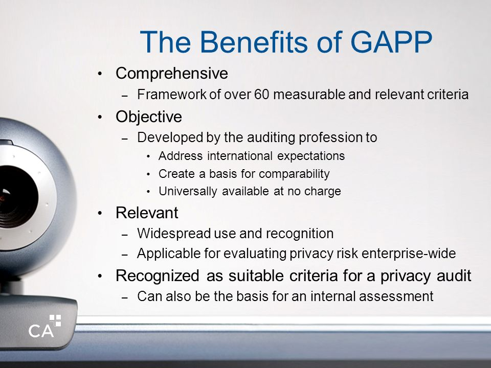 The Benefits of GAPP Comprehensive Objective Relevant