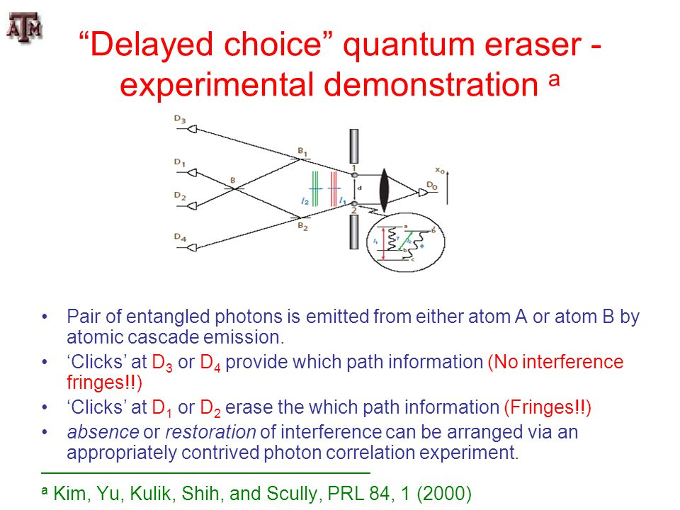 Delayed choice quantum eraser - experimental demonstration a
