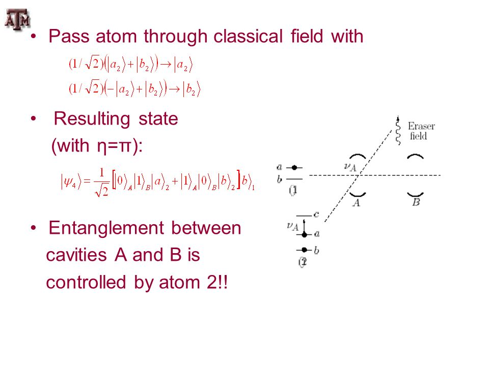 Pass atom through classical field with